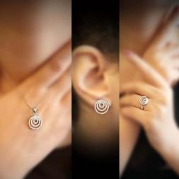 ست گوشواره گردنبند انگشترحلقه ای