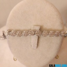 دستبند فلاور طرح جواهر