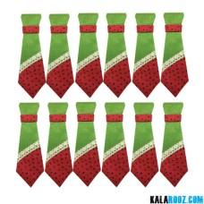 کراوات طرح یلدا بسته 12 عددی