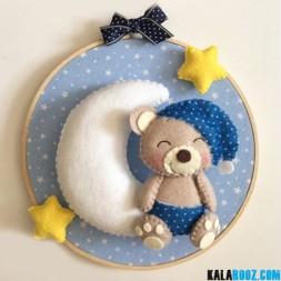 آویز نمدی ماه و خرس