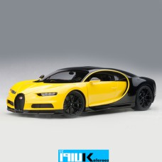 ماکت فلزی بوگاتی چیرون AUTOart 70994 Bugatti Chiron 2017 Yellow 1:18 Scale Model Car