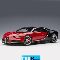 ماکت فلزی بوگاتی چیرون Bugatti Chiron Italian Red / Nocturne Black