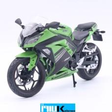 ماکت فلزی موتورسیکلت کاوازاکی نینجا KAWASAKI NINJA 300 GREEN 1:12 AUTOMAXX
