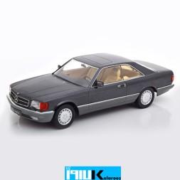 ماکت فلزی مرسدس بنز  180331// Mercedes 560 SEC C 126 grey KK Scale